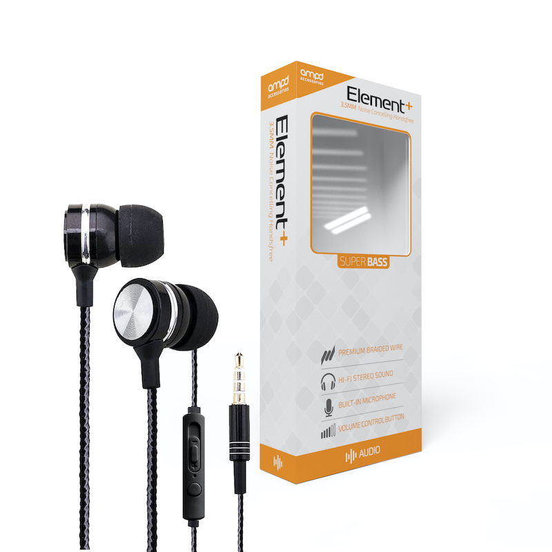 Element Plus Super Bass 3.5MM Audio Handsfree