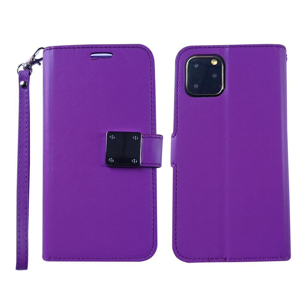 iPhone 11 Pro Max - Leather Clasp Wallet