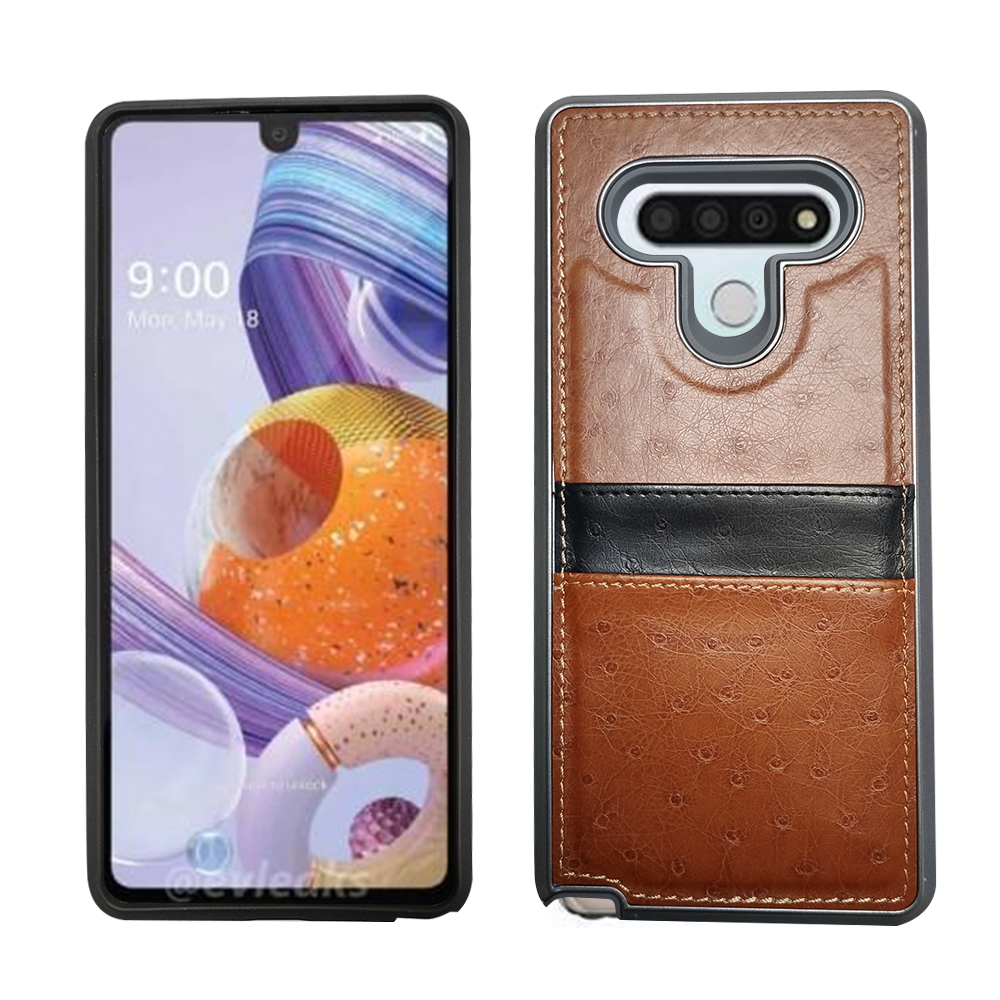 LG Stylo 6 Tan Leather Credit Card