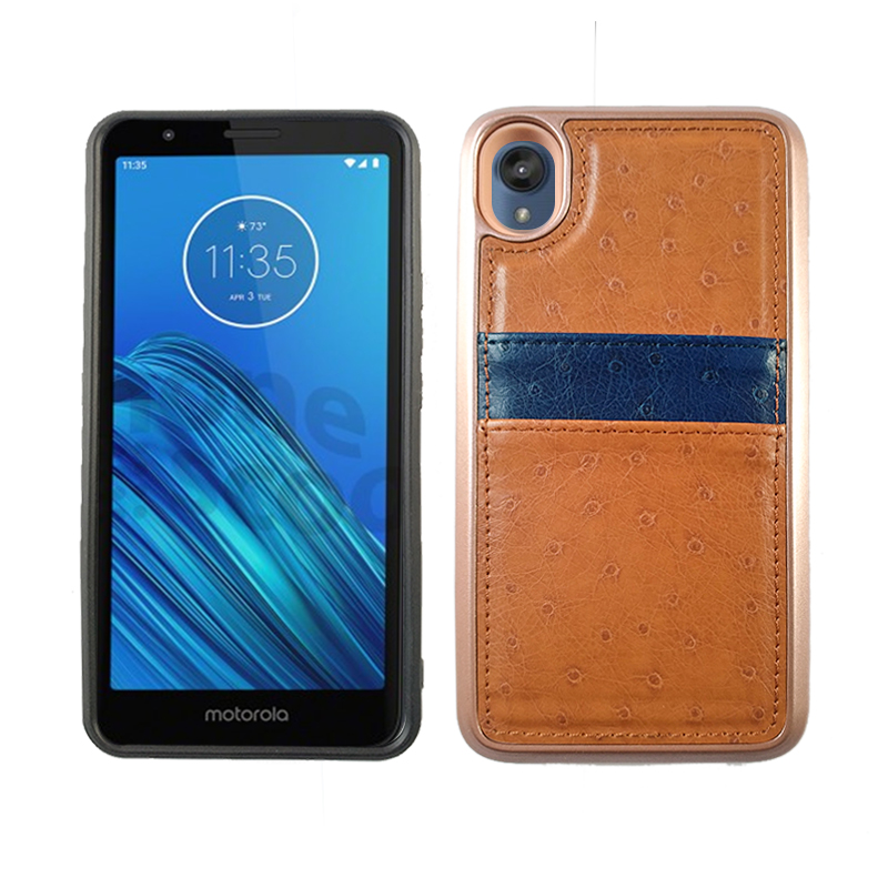 Motorola G8 Fast - Tan Leather Credit Card