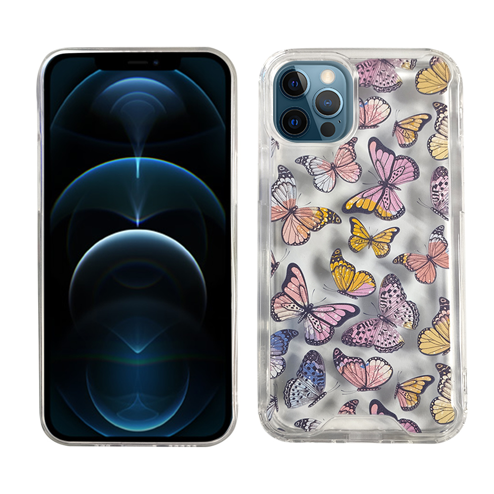 iPhone 12/Pro TPU/Acrylic - Butterfly
