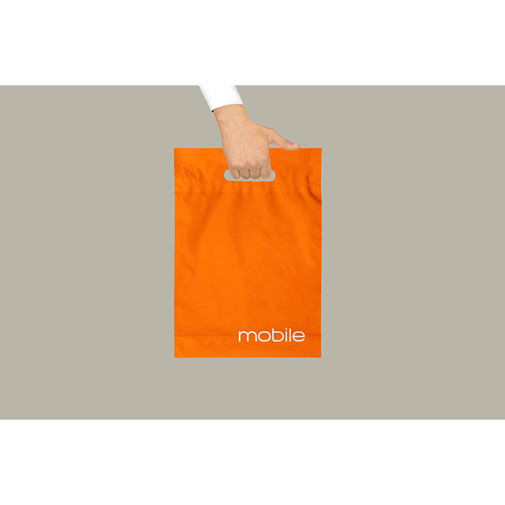 Orange Mobile Plastic Bag x 200 Pack