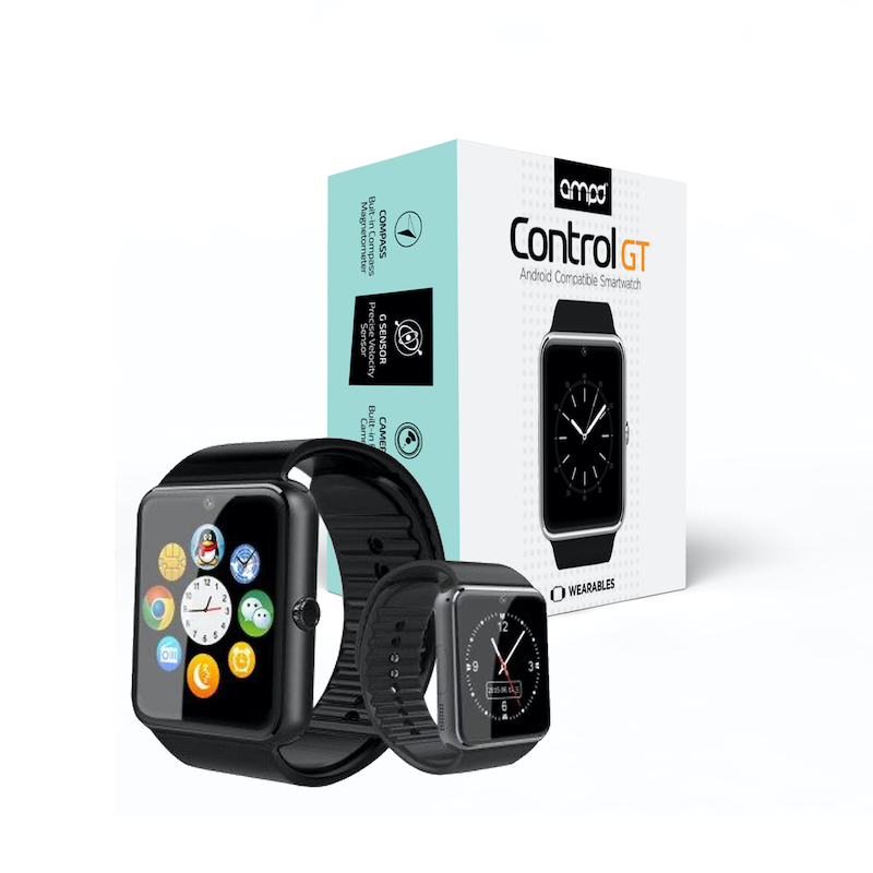 AMPD control GT smartwatch w/camera android only