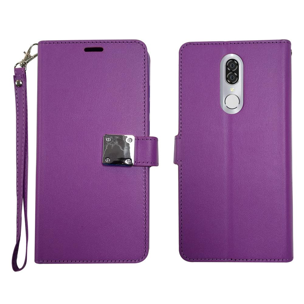CoolPad Legacy Leather Clasp Wallet - Purple