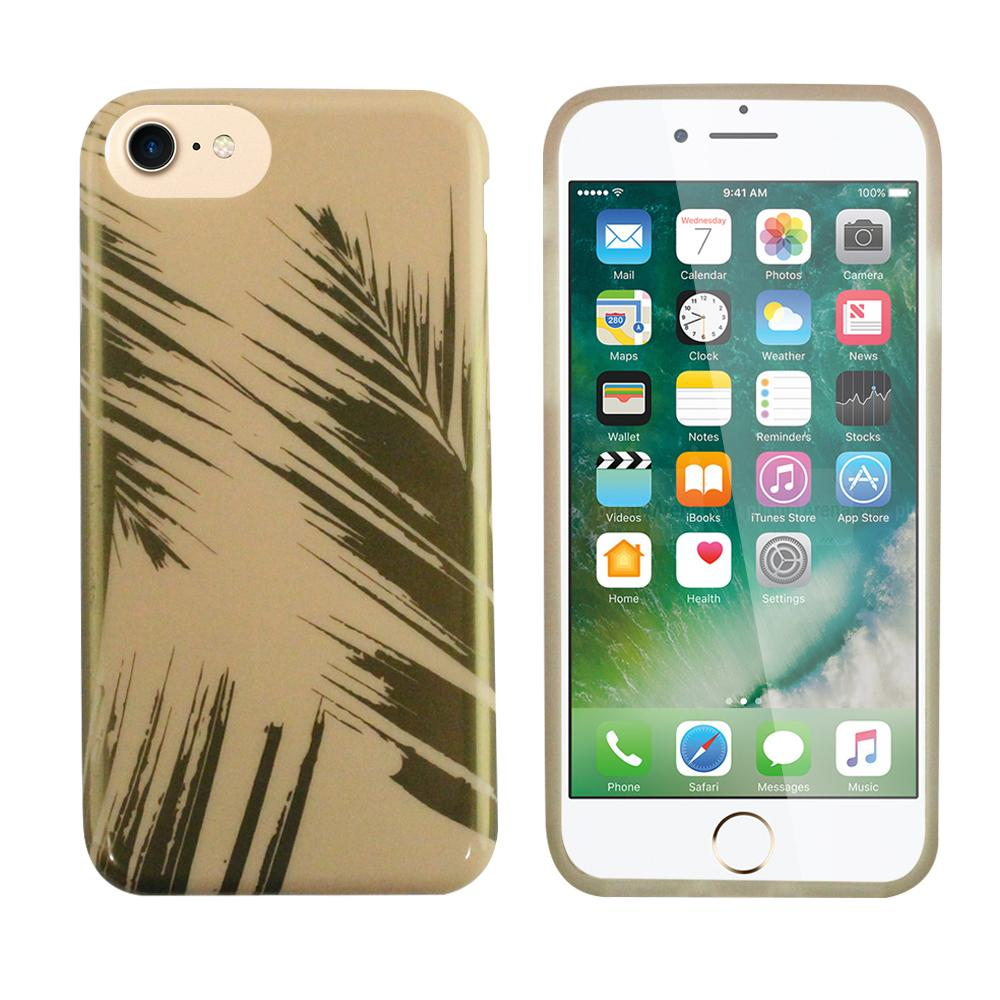 iPhone 6/7/8 Fit Edge To Edge - Rose & Gold Palm