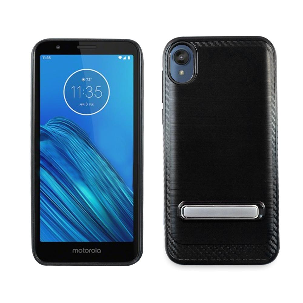 Motorola E6 Metallic Case - Black