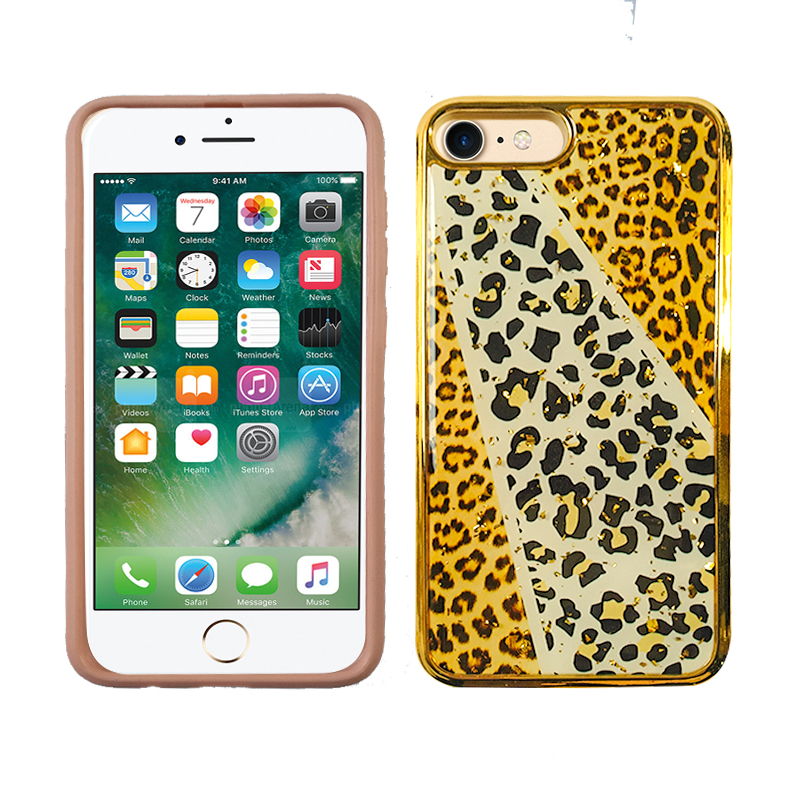 LG Tribute Royal Electroplate Drop Case - Leopard